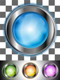 Glossy colourful buttons with the same illumination. Vector background