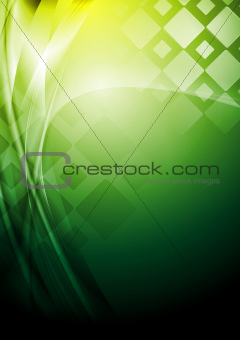 Bright green tech background. Vector