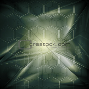 Abstract hi-tech background with geometrical elements. Vector