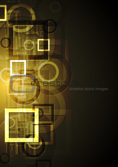 Abstract geometrical design. Vector background