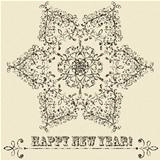 vector vintage  snowflake and grungy texture