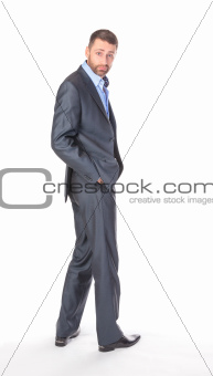 Full length portrait businessman