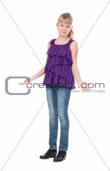 Young Girl Standing In Studio