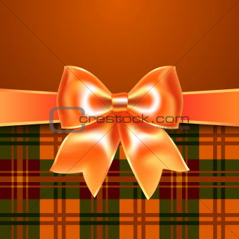 Background with ribbon bow