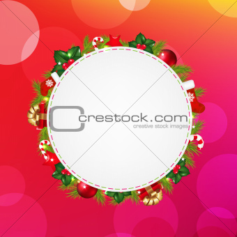 Blank Gift Tag With Pink Bokeh Background