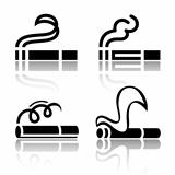 Set of symbols cigarettes
