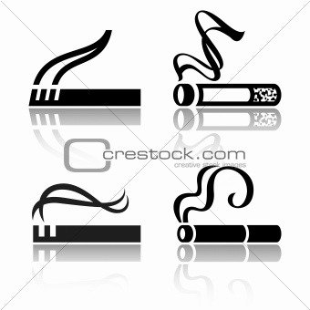 Set of signs cigarettes