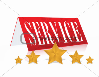 concept illustration of 5 star service