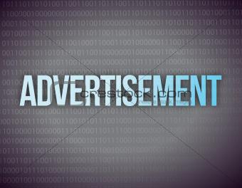 advertisement on digital screen