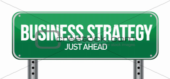 sign with an exit to &quot;Business Strategy&quot;