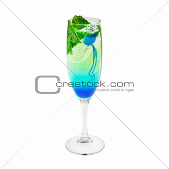 Layered cocktail blue and green