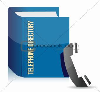Blue telephone directory
