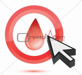 blood Medical button