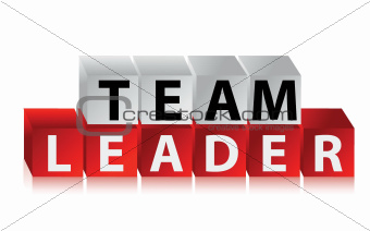 Team Leader - text with red cubes