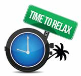 time to relax concept