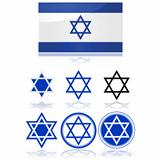 Flag of Israel and star of David