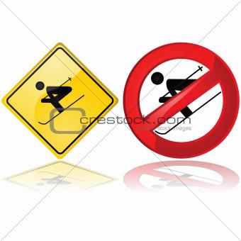 Ski signs
