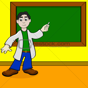Cartoon teacher