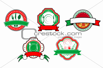 Italian food banners and labels