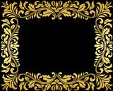 Vintage gold frame with floral elements