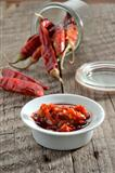 Dried Chilis with a chilli sauce