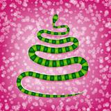 Snake in the form of a Christmas tree