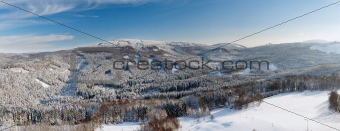 Winter landscape, Lusatian Mountains