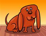 funny little dog cartoon illustration