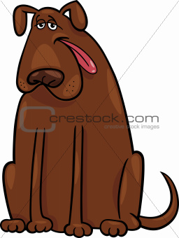 brown big dog cartoon illustration