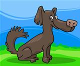 little shaggy dog cartoon illustration
