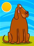 big brown dog cartoon illustration