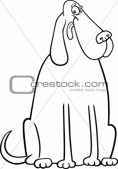big dog cartoon for coloring book