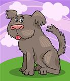 Sheepdog shaggy dog cartoon illustration