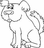 Sheepdog shaggy dog for coloring book