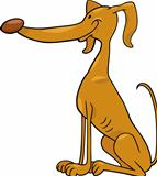 greyhound dog cartoon illustration