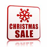christmas sale white banner with snowflake symbol