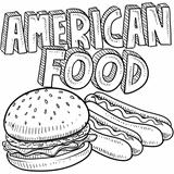 American food sketch