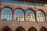 View of Facade in Court of Tribunal, Verona.