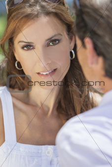 Middle Aged Man Woman Couple Outside