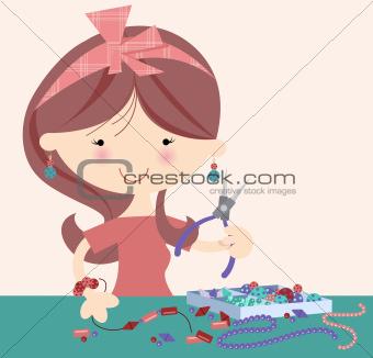 Happy jewellery Designer/Craft Girl