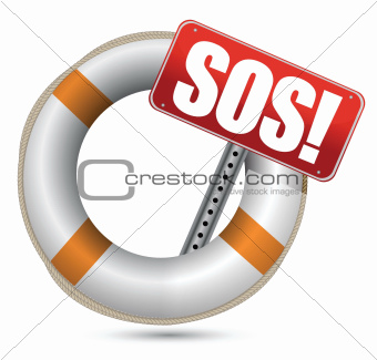 Life Buoy with SOS sign