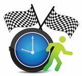Race Against Time concept