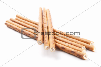 crispy sticks isolated on white