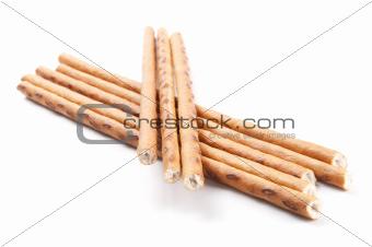 crispy sticks isolated on white