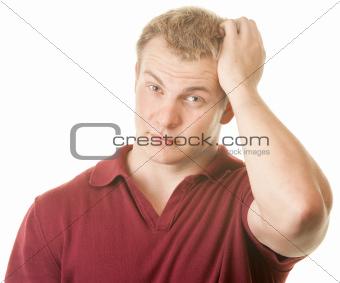 Cute Man Scratching His Head