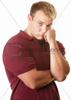Timid Muscular Man