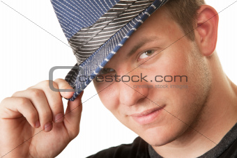 Grinning Man in Fedora Hat