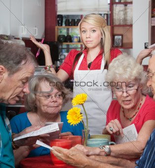 Waitress With Slow Customers