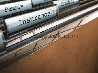 Insurance folder, family security