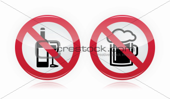 Drinking problem - no alcohol, no beer warning sign